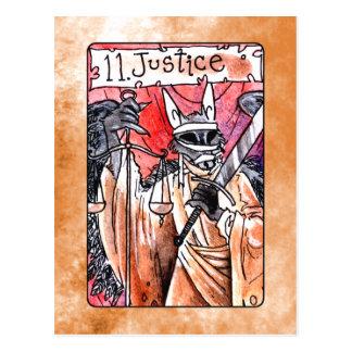 Justice Tarot Card Postcard