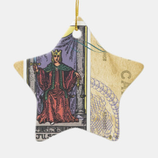 Justice Tarot Card Postcard Fortune Teller Ceramic Star Decoration