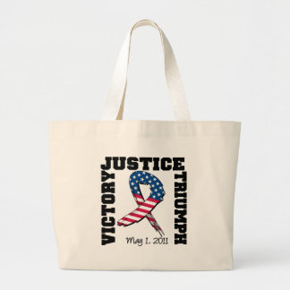 Justice Victory Triumph May 1 2011 Jumbo Tote Bag