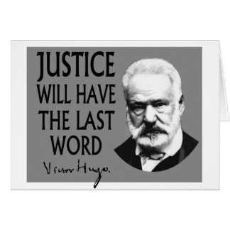 Justice will have the last word card