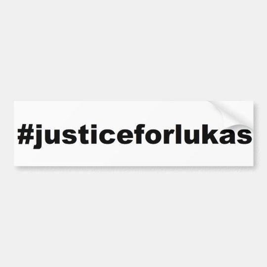 #justiceforlukas bumper sticker
