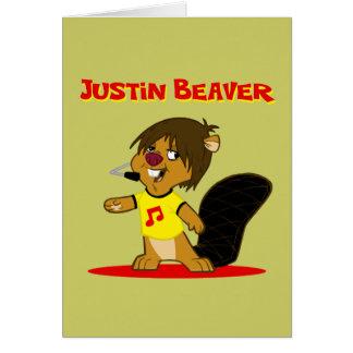 Justin Beaver Card