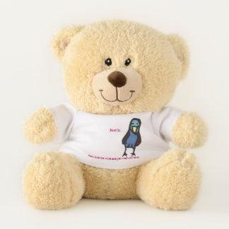 Justin, lean into the wind...birdie teddy bear