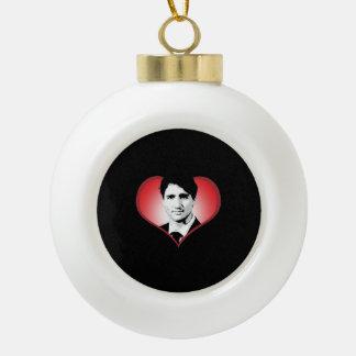 Justin Trudeau Heart -.png Ceramic Ball Decoration