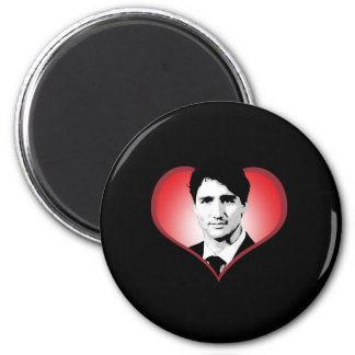 Justin Trudeau Heart -.png Magnet
