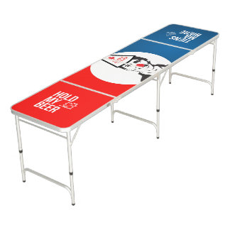 Justin Trudeau Hold my Beer Clown Canada Bilingual Beer Pong Table