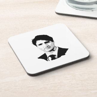 Justin Trudeau Portrait Beverage Coaster