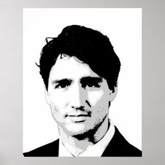 Justin Trudeau Portrait Poster