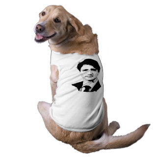 Justin Trudeau Portrait Sleeveless Dog Shirt