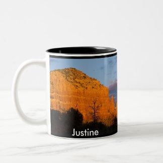 Justine on Moonrise Glowing Red Rock Mug