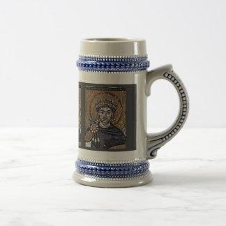 Justinian I, San Vitale (Ravenna) Choir Mosaics A Beer Stein