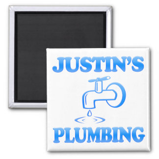 Justin's Plumbing Square Magnet