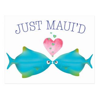 JustMauidBlueFish Postcard
