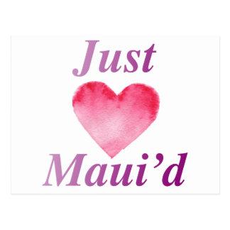 JustMauidHeart Just Maui'd Postcard