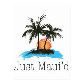 JustMauidTropical Just Maui'd Postcard