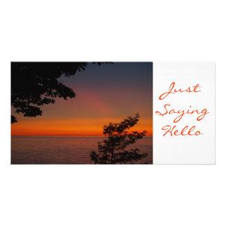 JustSaying Hello TEYoung Photo Greeting Card
