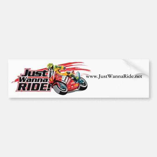 JustWannaRide.net Bumper Sticker