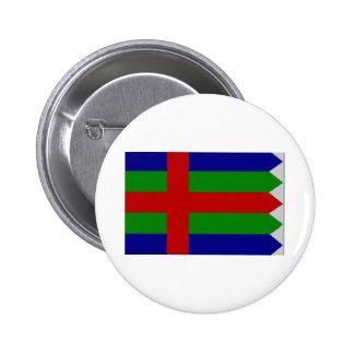 Jutland (Denmark) Flag Pinback Buttons