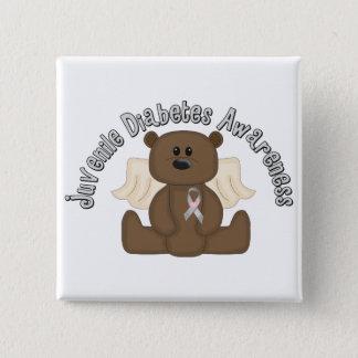 Juvenile Diabetes Awareness Bear 15 Cm Square Badge