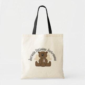 Juvenile Diabetes Awareness Bear Budget Tote Bag
