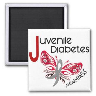 Juvenile Diabetes BUTTERFLY 3 Fridge Magnet