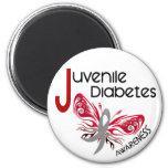 Juvenile Diabetes BUTTERFLY 3 Refrigerator Magnet