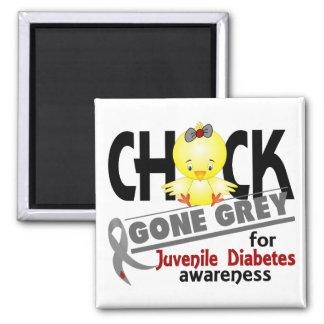 Juvenile Diabetes Chick Gone Grey 2 Refrigerator Magnet