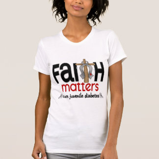 Juvenile Diabetes Faith Matters Cross 1 T-Shirt