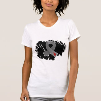 Juvenile Diabetes Grey Ribbon With Scribble T-Shirt