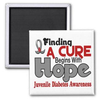 Juvenile Diabetes HOPE 5 Fridge Magnet