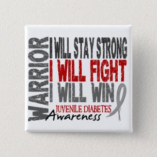 Juvenile Diabetes Warrior 15 Cm Square Badge