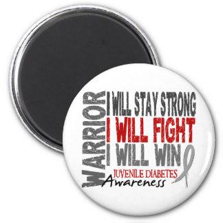 Juvenile Diabetes Warrior Magnet