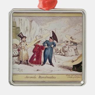 Juvenile Monstrosities, 1825 Silver-Colored Square Decoration