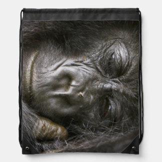 Juvenile Mountain Gorilla 4 Drawstring Bag