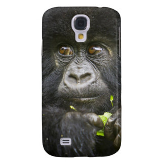 Juvenile Mountain Gorilla feeds on tender leaves 2 Galaxy S4 Case