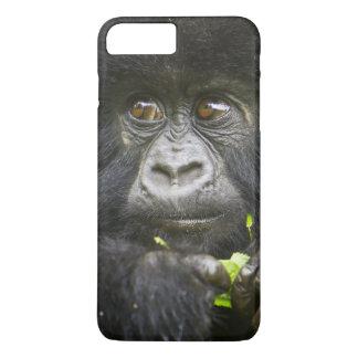Juvenile Mountain Gorilla feeds on tender leaves 2 iPhone 8 Plus/7 Plus Case