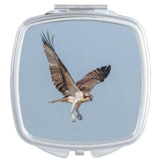 Juvenile Osprey in flight Travel Mirror