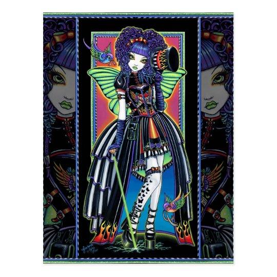 Juxtapose Rainbow Fairy Carnival Postcard