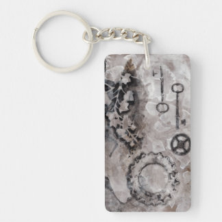 Juxtaposition II Double-Sided Rectangular Acrylic Key Ring