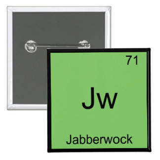 Jw - Jabberwock Funny Chemistry Element Symbol Tee 15 Cm Square Badge