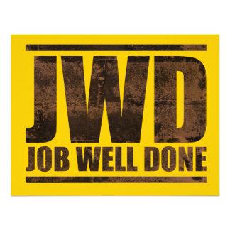 JWD Job Well Done - Wash Design Custom Announcements