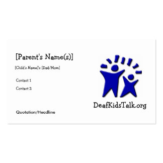 JWPOSD Parent Cards Pack Of Standard Business Cards
