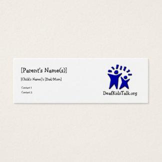 JWPOSD Parent Cards-Slim Design Mini Business Card