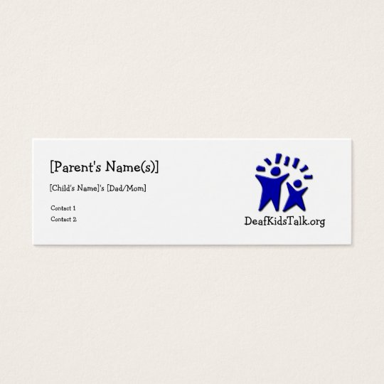 JWPOSD Parent Cards-Slim Design Mini Business Card