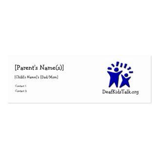 JWPOSD Parent Cards-Slim Design Pack Of Skinny Business Cards