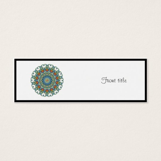 K134 Light Blue Curled Edges Mini Business Card