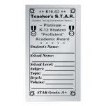 K16-4D Teacher's ~Platinum~ S.T.A.R. Card 100ct