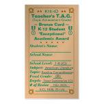 K16-4D Teacher's T.A.G. ~Bronze Card~ Jr Hi 100ct