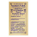 K16-4D Teacher's T.A.G. ~Gold Card~ HS 100ct
