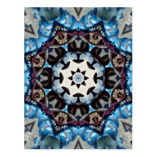 K186 Fancy Blue Octagon Postcard